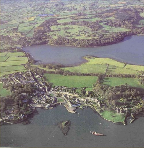 Strangford from the air: Photo - Leslie McCullough