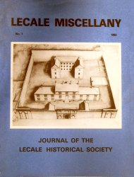 Front Cover: Birds eye view of the old Down County Gaol at the Mall, Downpatrick as it appeared soon after its construction in 1789-1796. The building is now to be restored as the headquarters of the Down Museum.